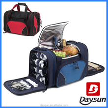 Factory Direct 4 Person with Cooler Compartment Picnic Cooler Bag