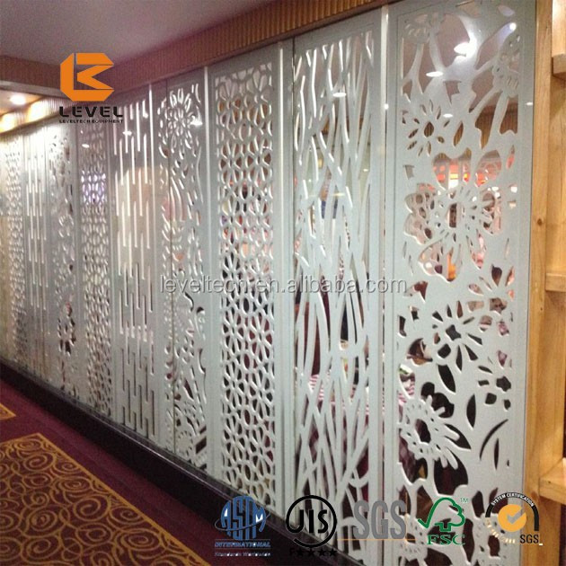 Laser Cutting Art Design Decorative Wood Screen Divider Panels
