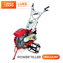 LUKE 3TG 6.5HP-13HP mini diesel Pto rotary hoe farm king tiller cultivator 10hp rotary hand tractor power weeder with implement