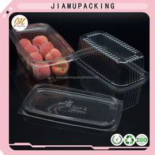 Food grade hard clear plastic fruit packing box with cover