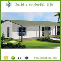 2016 shandong heya brand 3D design light steel structure house/luxury prefab villa