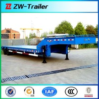 2 Axles Low Bed Semi Trailer with Step Wise,to carry excavator / lowbed truck semitrailer