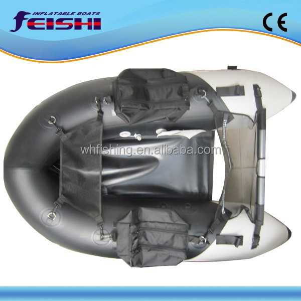 Korea mini fly fishing boat small pontoon boat inflatable 1.7m belly boat