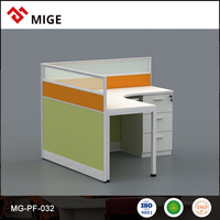 MFC Desktop Office Partition Demountable glass partitions with Side Drawer MG-PF-032