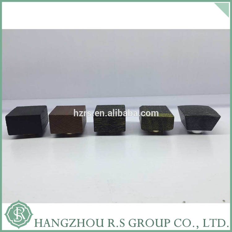 New Design Black Square Wooden Perfume Cap