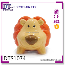 Ceramic lion money bank, atm bank money saving boxes toy