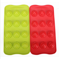 new baking supplies sun smiling face shape food kitchen silicone products ice mold DIY personalized ice cube tray