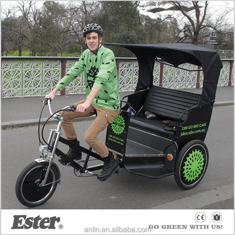 High Quality ESTER Touring Manual Triciclo Rickshaw for Europe