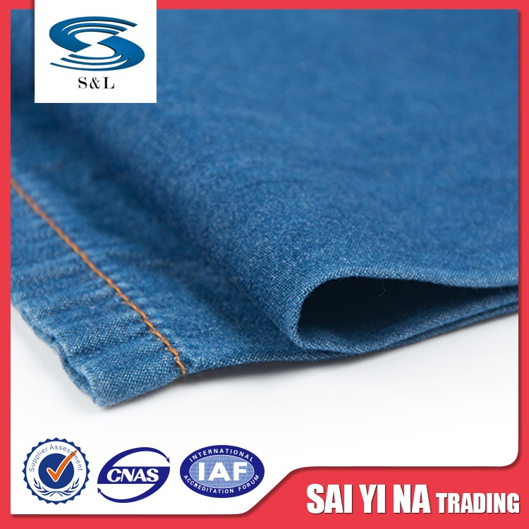 Garment cotton denim fabric mills for supplier with different size