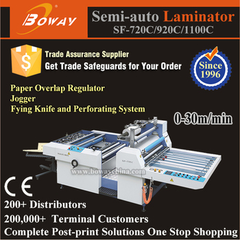 30m/min Semi Automatic Heated Roll Film laminator Machine
