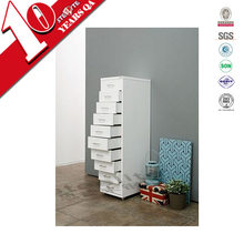 Red color cabinet 10 drawers / ten compartments storage cabinet with wheels