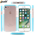 New unbreak clear two color in frame soft TPU protective back case for iphone7