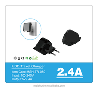 Swiss AC power travel adapter with supporting and MFI cable