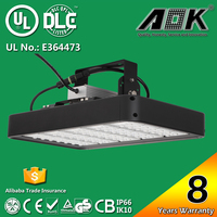 UL cUL DLC TUV CE RoHS SAA Listed 8 years warranty IP65 160W Led Lighting Factory