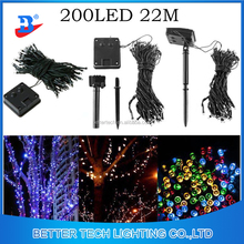 Factory Manufacturer Solar Light 200LEDs 22M Solar Power Fairy String Lights Garden Christmas Outdoor
