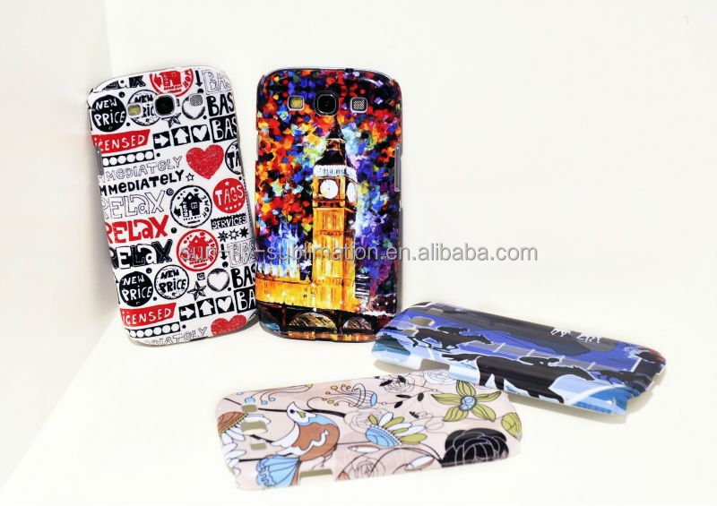 3D sublimation printing case for samsung galaxy s3