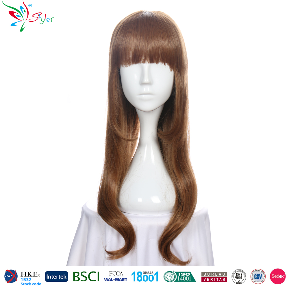 Japanese 2016 New Fashion Stylish Women Long Straight brown wholesale wigs