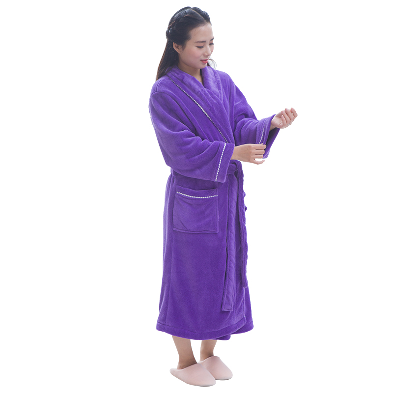 Double-Sided Plush Custom Made Bathrobes gowns for big women
