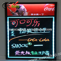 2013 New!High Quality Illuminated Led Message Writing Board With Light Box