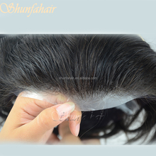 Super Full poly hair piece Accept Paypal Natural Hairline /Best Quality Toupee on Sale