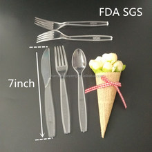 Eco-friendly disposable Chinese soup spoon white small reusable plastic spoons