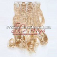 Factory price clip on hair extensions for black women
