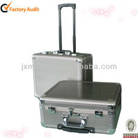Excellent Quality Aluminum Frame Rolling Trolley Case Computer&Luggage Box