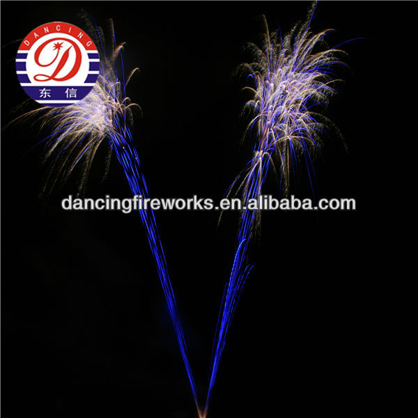 156 SHOTS V SHAPE BROCADE WAVE WITH BLUE TAIL fireworks