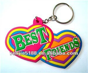 wholesale 100 pcs BEST FREIND mobile phone charm key chain /key ring cheap