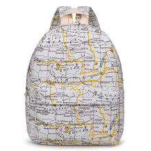 factory wholesale world map printed canvas backpack, bagpack men