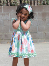 Hot Sale Girl Twirl Dress Adorable Toddler Ruffle Summer Dress For Spring &Summer