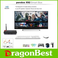 Free video watch wifi ott pendoo x92 2g 16g Quad core android 6.0 tv box