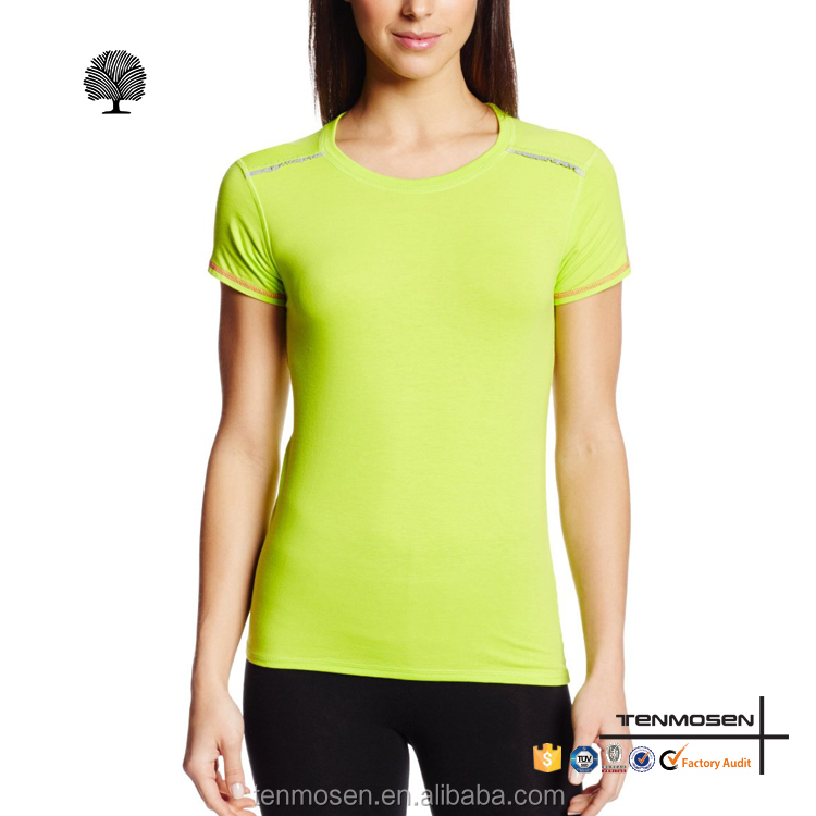 OEM women lycra running gym wear fitness yoga t shirts