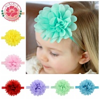 584 NEW Kids Baby Hair Accessories Boutique Baby Girls Infant Hair Band Elastic Chiffon Flowers Headbands