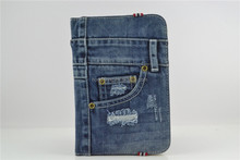 "2014 good selling Universal Jean Folio Case for 7""~8"" Tablet"
