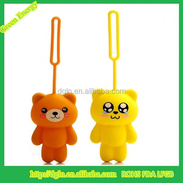 New Silicone Lovely bear Key Bag Silicone Wallet/Hot Selling bear Key Bag, Key Pouch,Key Wallet For Promotion