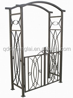 11.11 Sourcing Festival Wrought iron garden arch garden decoration leaves shape garden arch