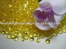 Yellow Plastic beads Diamond Shape