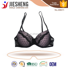 Wholesale Black Adjustable 3/4 Cup Gather Women Sexy mature Lace Bra