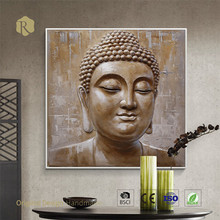 buddha head painting wall art oil painting for home decoration