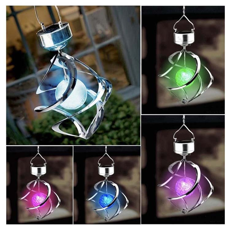 7 color change solar garden light spins in the breeze led bulb solar light
