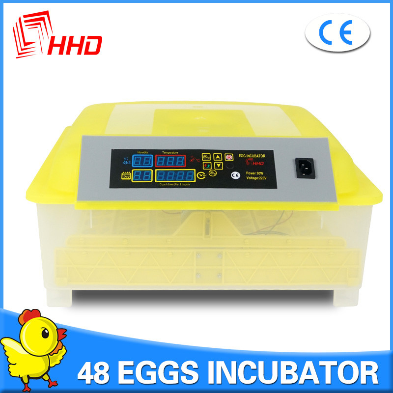 HHD hot sale 98% hatching rate CE approved cheap 48 chicken fertile eggs hatching machine price