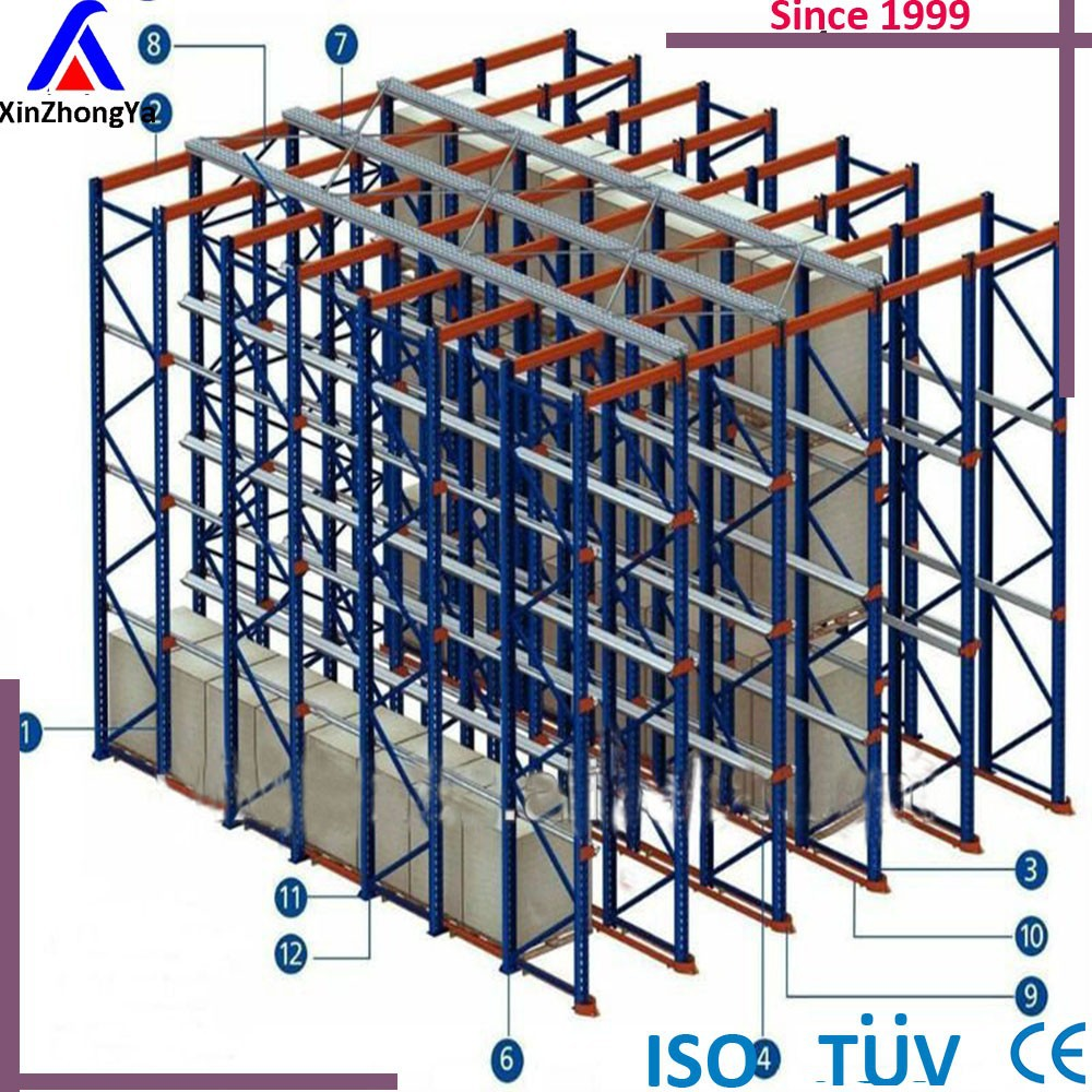 warehouse drive-through rack systems Welded rail Storage rack logical Pallet FIFO factory supplier