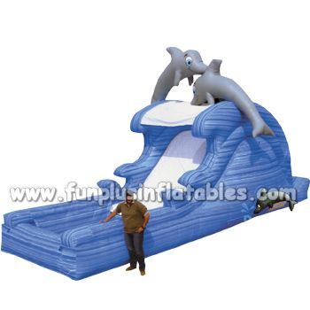 Dolphin design inflatable water slide for adult or kids F4085