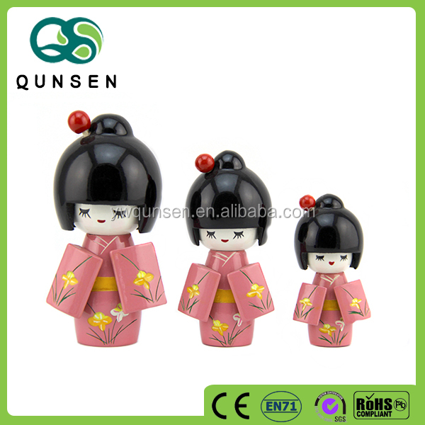 hot selling Mini love Wooden Japanese doll