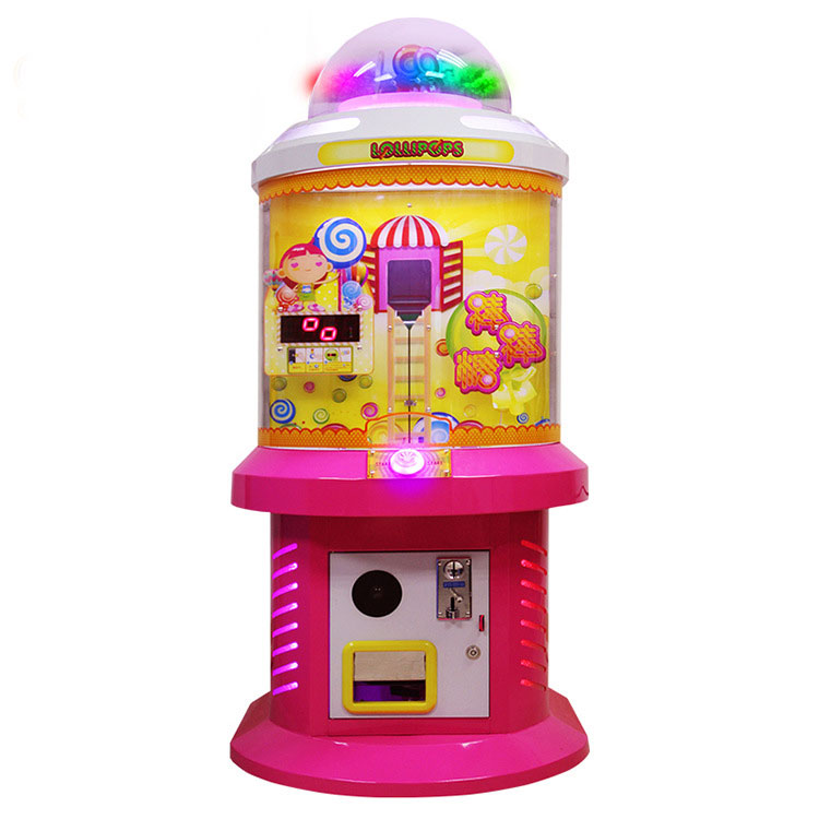 Cool LED lollipop candy dispense machine/pink vending machine