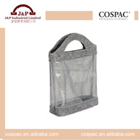Clear pvc transparent travel make up toiletry bag for lady cosmetic case
