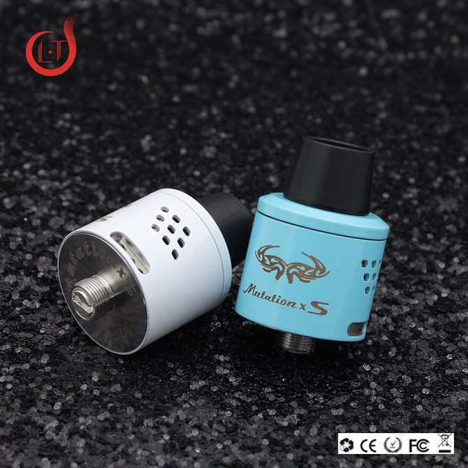 GLT dripper tip atomizer Stainless Steel Mutation x S RDA /mini mutatuin xs v4 rda e pen vapor wholesale