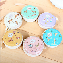 Creative Korea stationery gift jungle elf round tin purse Wallets