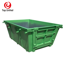 2-6cubic steel garbage bin chain lift skip waste bin for rubbish management for Australia /Newzeland using in china factory